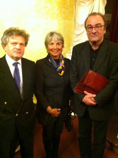 S.E. Botschafter Hubert Wurth, LÖG Präsidentin Ginette Griesbach-Frosio, Robert Menasse